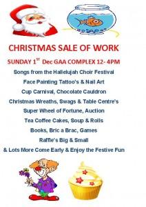 sale of work flyer
