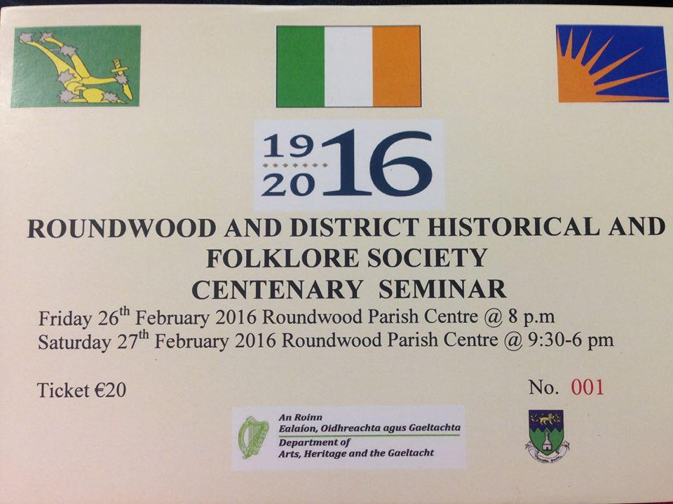 1916 seminar ticket