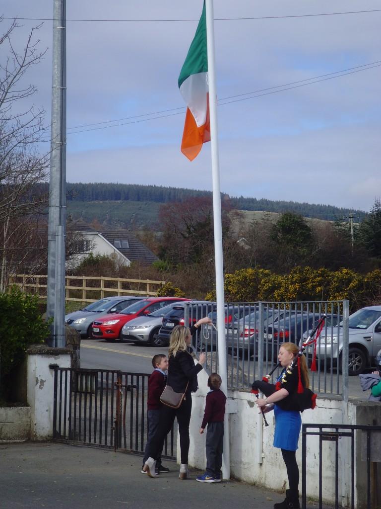 1916 flag raise