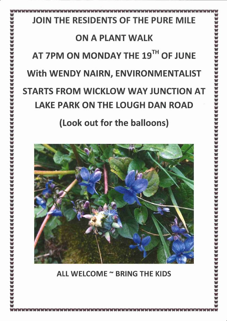 Plant walk poster